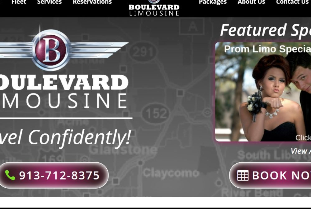 Boulevard Limo Service Website Screenshot