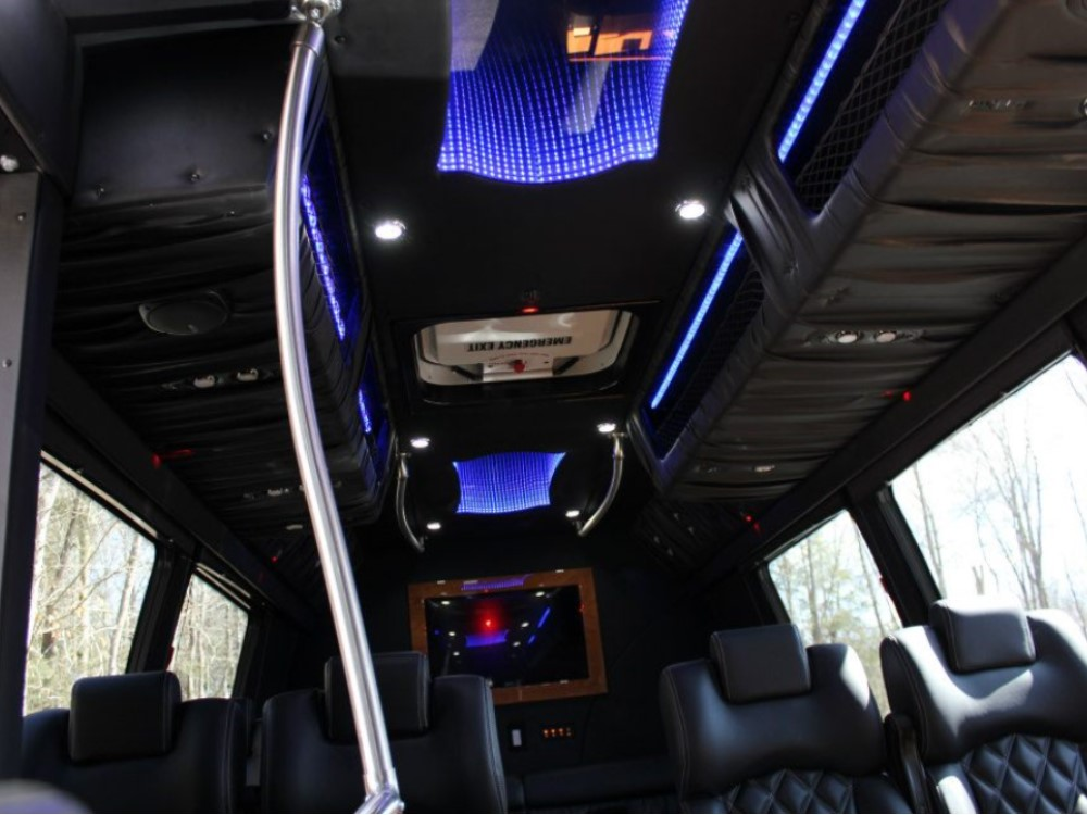 KC Executive Limo Bus interior ceiling