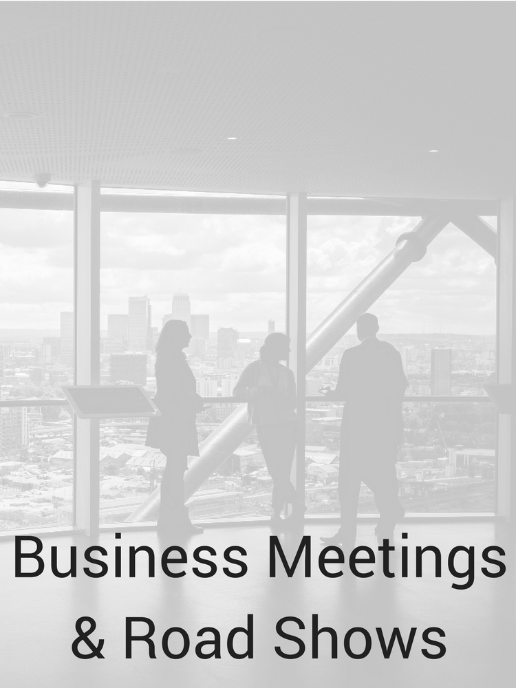 Business Meetings & Road Shows